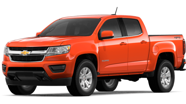 Orange 2019 Chevy Colorado