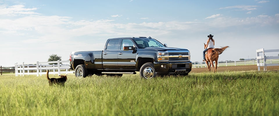 2016 Chevy Silverado outside at farm