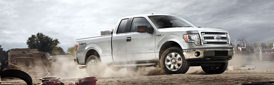 2013 Ford F-150 in construction zone