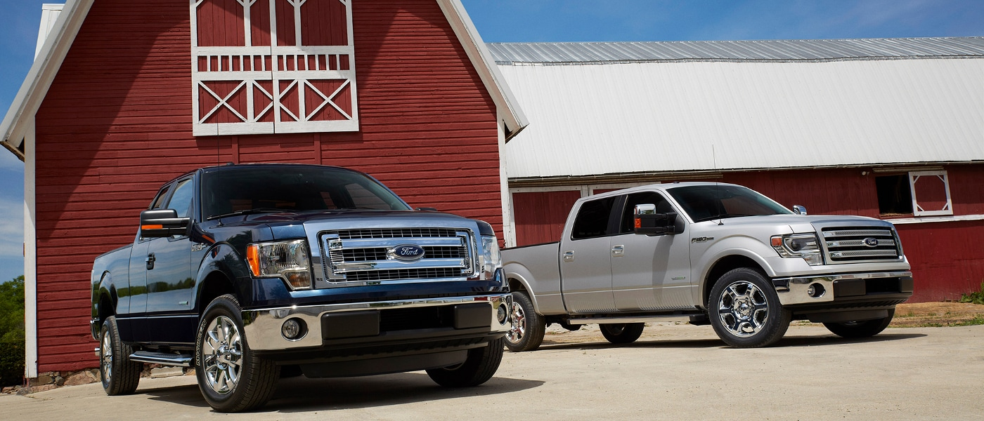 2014 Ford F-150 near barn