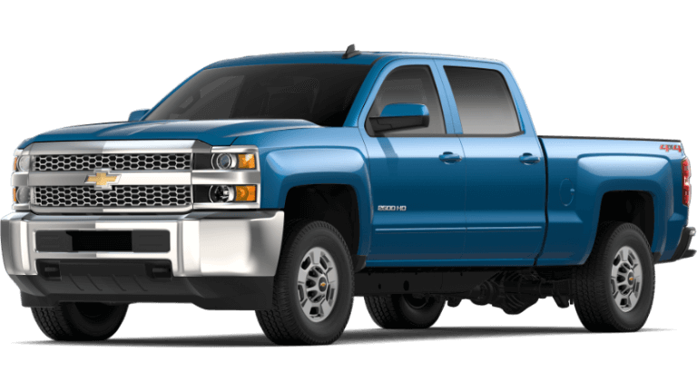 Blue 2019 Chevy Silverado 2500