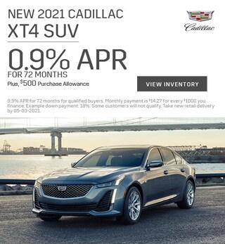 New 2021 Cadillac XT4 SUV - April