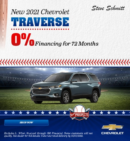 New 2021 Chevrolet Traverse - April