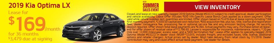 2019 Kia Optima - June Offer