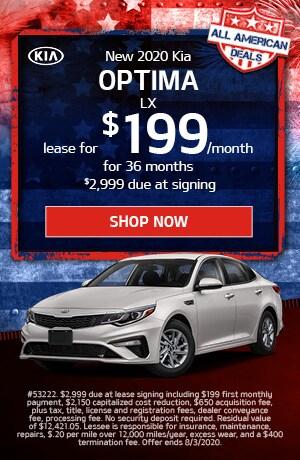 2020 Kia Optima - July Offer