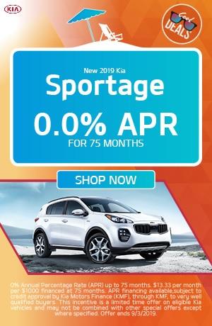 2019 Kia Sportage -August Offer