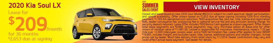 2020 Kia Soul - June Offer