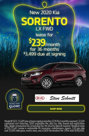 2020 Kia Sorento - September Offer