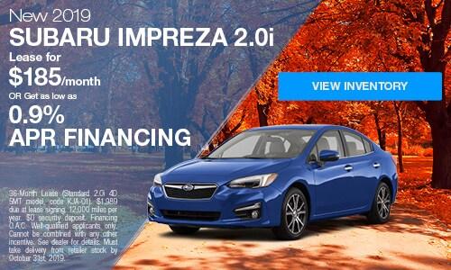 2019 Subaru Impreza - October