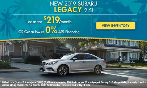 2019 Subaru Legacy - June