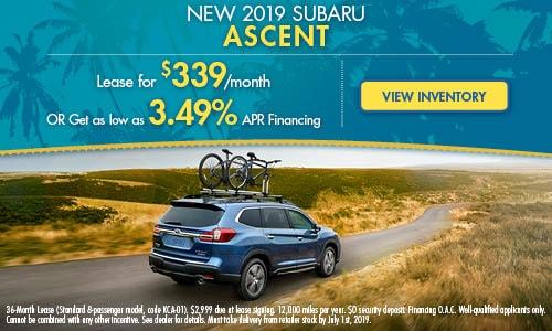 2019 Subaru Ascent - June