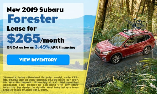2019 Subaru Forester - April