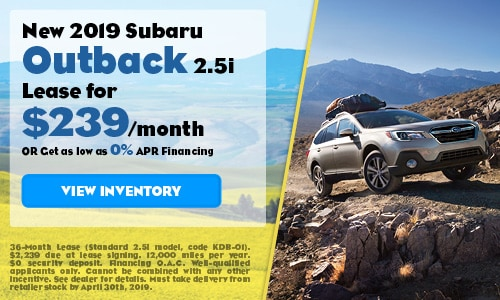 2019 Subaru Outback - April