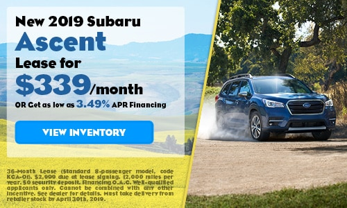 2019 Subaru Ascent - April
