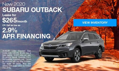2020 Subaru Outback - October