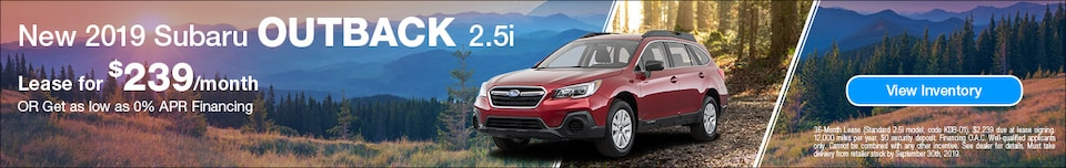 2019 Subaru Outback - September