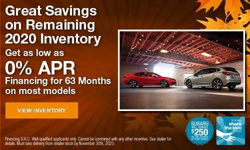Great Savings on Remaining 2020 Inventory