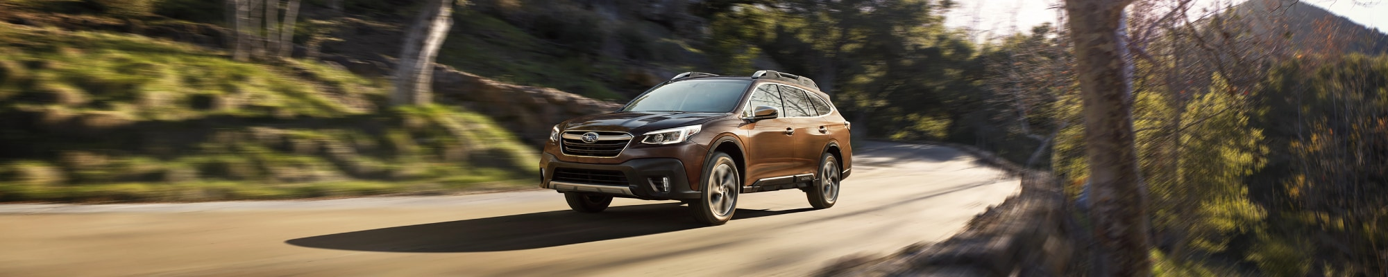 All New Subaru Outback driving on the road