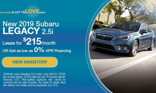 2019 Subaru Legacy - August