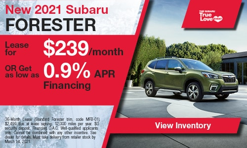 New 2021 Subaru Forester