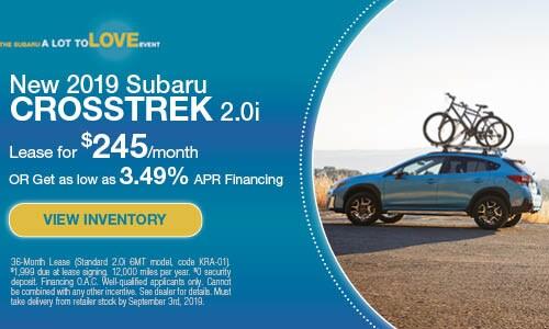 2019 Subaru Crosstrek - August