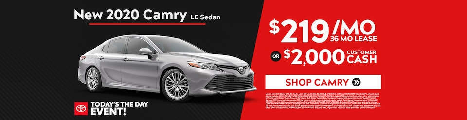 New 2020 Toyota Camry Sale!