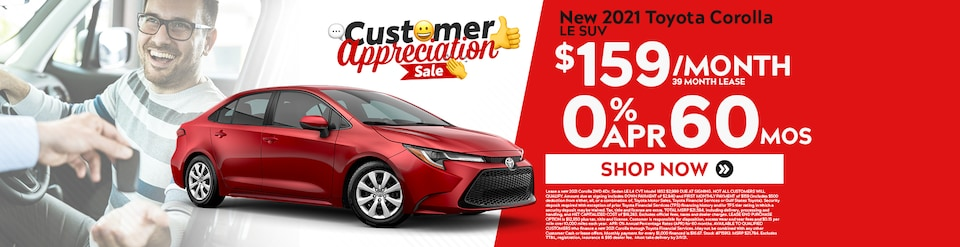New 2021 Toyota Corolla Sale
