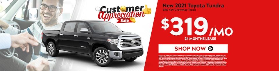 New 2021 Toyota Tundra Sale