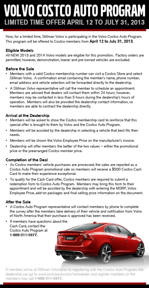 Costco Auto Program >> Costco Auto Program Stillman Volvo Cars