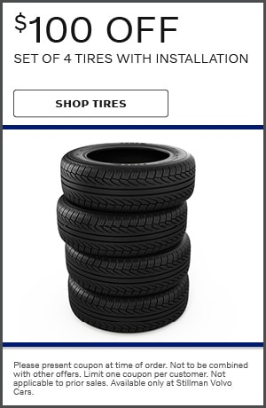 $100 off Set of 4 Tires with Installation