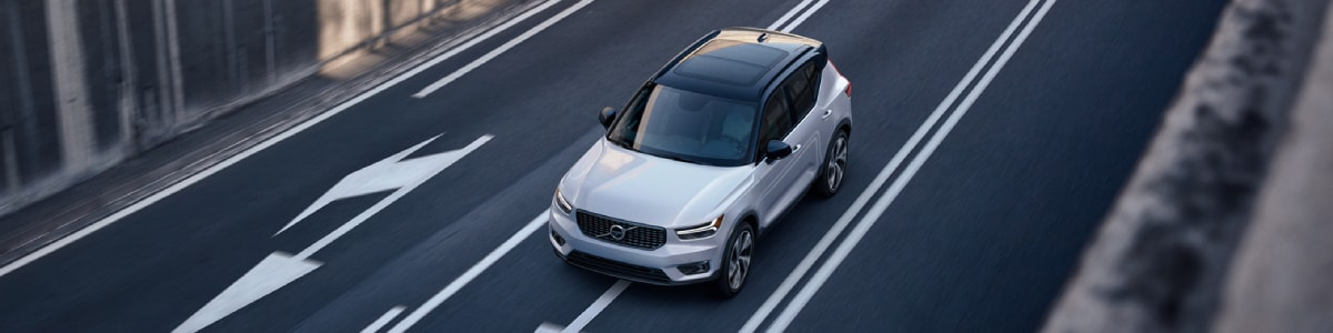 New Volvo XC40 driving down the highway