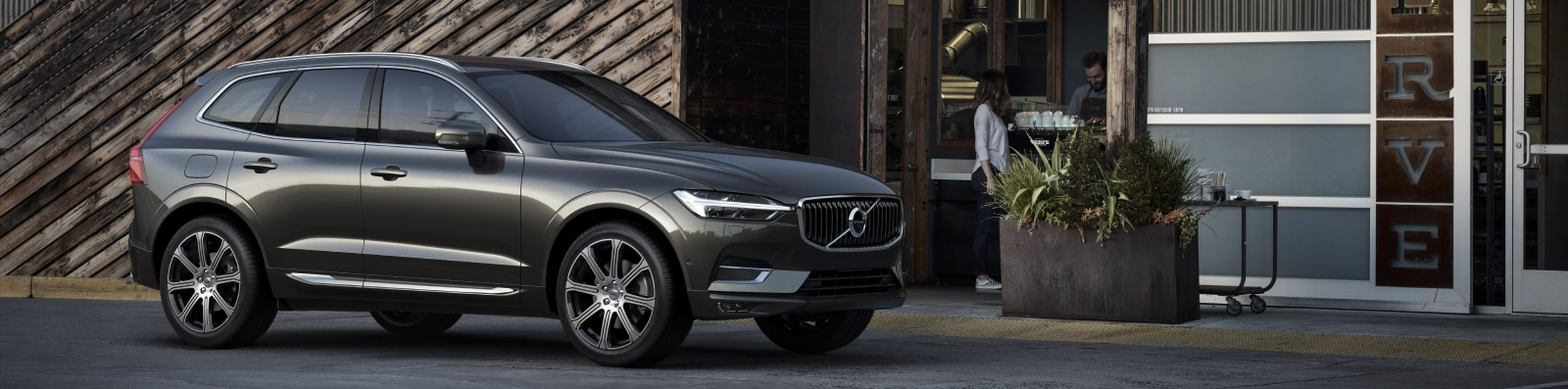 New Volvo XC60 outside a modern shop