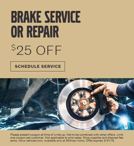 MAY | BRAKE SERVICE OR REPAIR