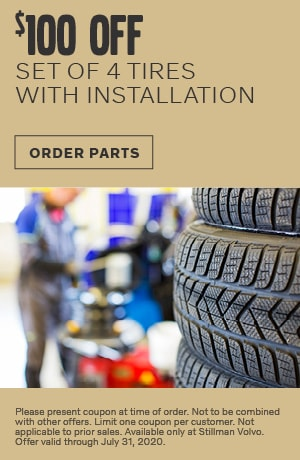 $100 OFF 4 TIRES with INSTALL