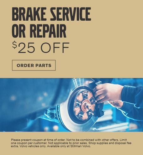 BRAKE SERVICE OR REPAIR