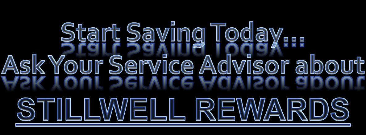 Start Saving today Ask Your service advisor