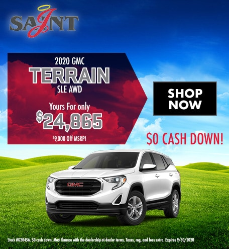 2020 GMC Terrain SLE AWD Purchase