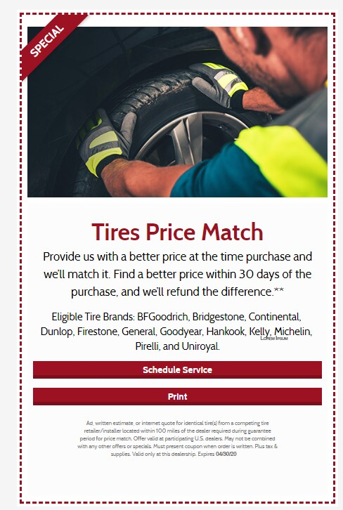 Tires Price Match