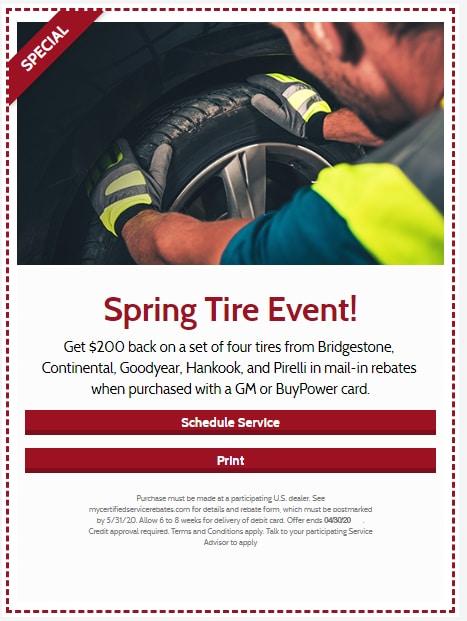 Spring Tire Event