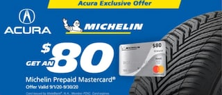 $80 Rebate for Acura Owners who Purchase Qualifying Michelin Tires