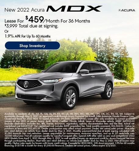 New 2022 Acura MDX