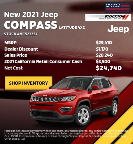 February | New 2021 Jeep Compass Latitude | MSRP