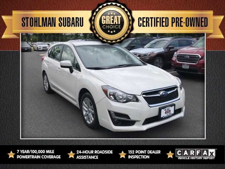 Used 2016 Subaru Impreza 2.0i 5-door in Herndon, VA
