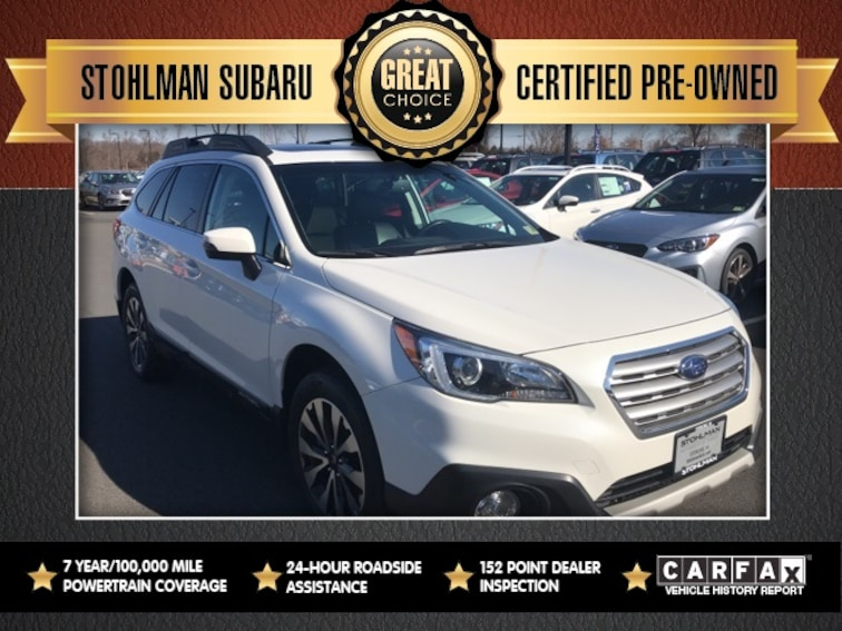 Certified 2017 Subaru Outback 2.5i Limited with SUV Sterling, VA