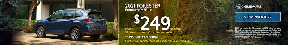 2021 Forester Premium (MFF-11) - $249 Lease