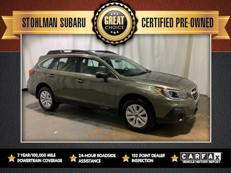 Certified Used 2018 Subaru Outback 2.5i SUV for sale at Stohlman Subaru in Tyson's Corner, VA