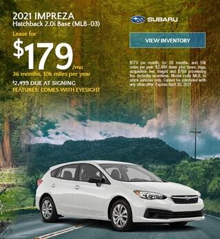 2021 Impreza Hatchback 2.0i Base (MLB-03) - $179 Lease