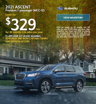 2021 Ascent Premium 7-passenger (MCC-12) - $329 Lease
