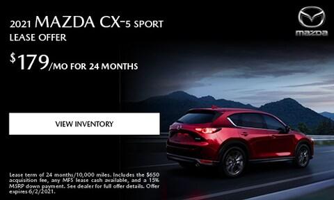 2021 Mazda CX-5 Sport Lease Offer