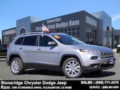 Used 2017 Jeep Cherokee Limited FWD SUV 1C4PJLDBXHW513967 for Sale in Pleasanton, CA